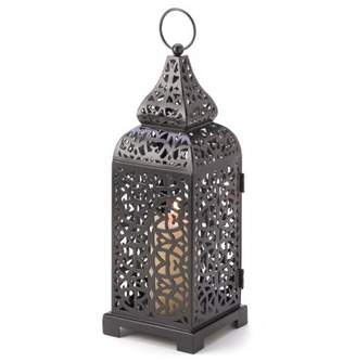 Gallery of Light BLACK MOROCCAN CANDLE LANTERN