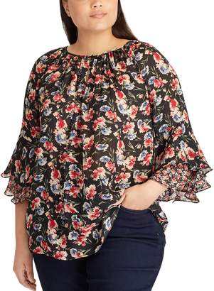 Chaps Plus Size Ruffle Top