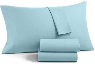 Martha Stewart Collection Essentials Solid Microfiber 4-Pc. California King Sheet Set