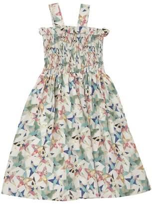 Stella McCartney Stars Printed Silk Canvas Dress
