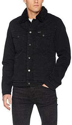 Wrangler Men's Sherpa Denim Jacket,XX-Large
