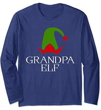 Grandpa Elf Christmas Season Long Sleeve Tee Shirt Gift