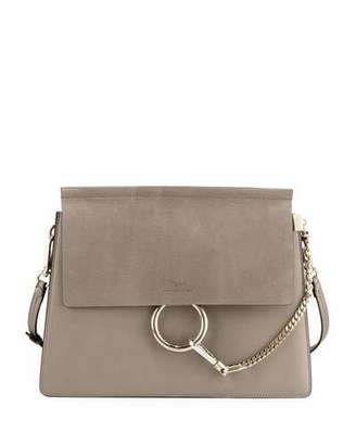 Chloe Faye Medium Flap Shoulder Bag, Motty Gray $1,950 thestylecure.com