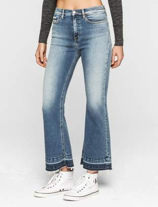 Calvin Klein flared high rise cropped jeans