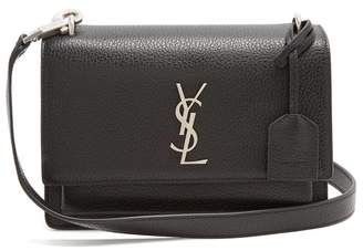 Saint Laurent Sunset Medium Leather Cross Body Bag - Womens - Black