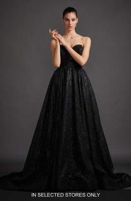 Lazaro Veronica Shimmer Strapless Ballgown