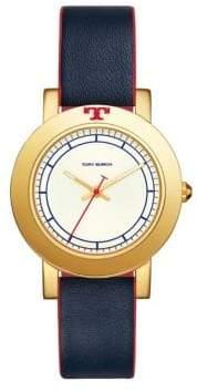Tory Burch Ellsworth Leather Strap Watch