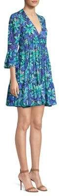 Michael Kors Floral Mini Babydoll Dress