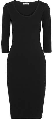 James Perse Cotton-blend Jersey Dress - Black