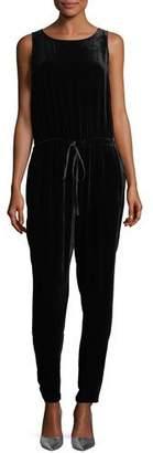 Eileen Fisher Silky Velvet Jogger Jumpsuit, Plus Size