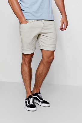 boohoo Slim Fit Coloured Denim Shorts