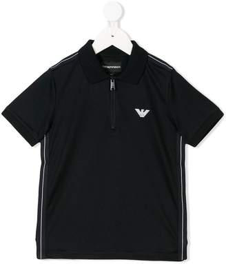 Emporio Armani Kids zip front polo shirt