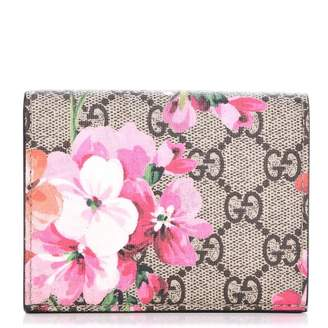 d7c726885e7 Pre-Owned at StockX · Gucci Card Case Wallet Monogram GG Supreme Blooms  Print Antique Rose