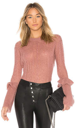 NAADAM Long Sleeve Ruffle Sweater