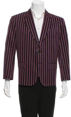 Maison Margiela Stripe Notched-Lapel Blazer w/ Tags