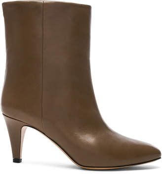 Isabel Marant Leather Dailan Boots in Brown | FWRD