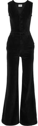 Frame Velvet Jumpsuit - Black