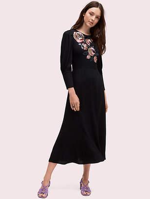 Kate Spade Sequin Embellished Midi Dress, Black - Size 0