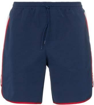 Gucci web stripe logo swim shorts