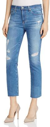 AG Jodi Distressed Cropped Jeans $245 thestylecure.com