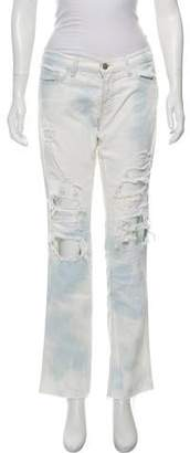 J Brand Bleached Distressed Jeans