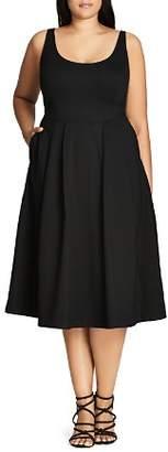 City Chic Plus Classic Longline Dress