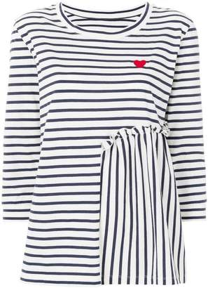 Parker Chinti & striped heart printed top