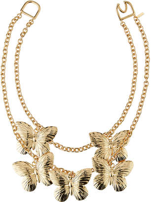 Kenneth Jay Lane Butterfly 2-Layer Necklace