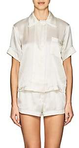 Araks Women's Shelby Silk Charmeuse Pajama Top - White