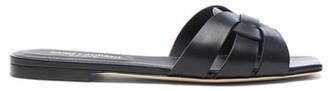 Saint Laurent Nu Pieds Leather Slides