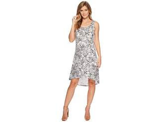 Mod-o-doc Cotton Modal Spandex Jersey Hi-Low Hem Tank Dress w/ Keyhole Back
