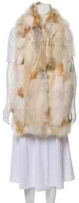 Miu Miu Fur & Wool Knit Vest