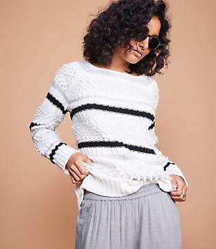 Lou & Grey Striped Stitch Sweater