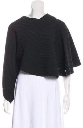 Chanel Knit Cropped Poncho