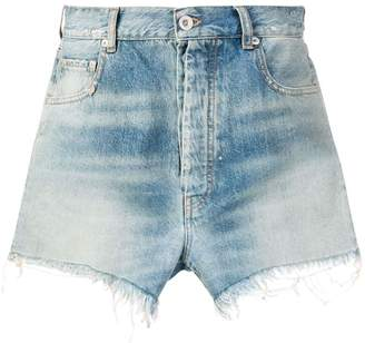 Unravel Project denim fringed shorts