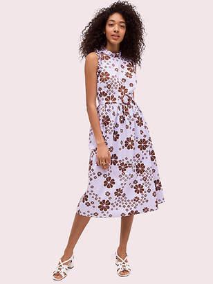 Kate Spade Flora Spade Midi Dress, Frozen Lilac - Size 0