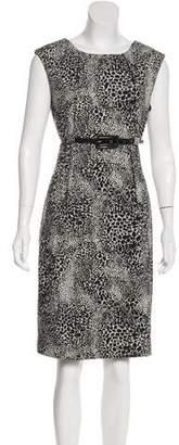 Calvin Klein Patterned Belted Dress