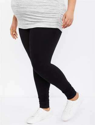 8859908ea7c63 Motherhood Maternity Plus Size Essential Stretch Secret Fit Belly Ruched  Detail Maternity Leggings