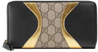 Gucci Osiride GG Supreme zip around wallet