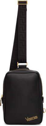 Versace Black Logo Crossbody Bag