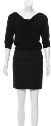 Loeffler Randall Short Sleeve Mini Dress