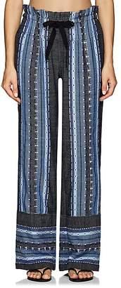 Lemlem Women's Lucy Folkloric-Striped Cotton-Wool Pants