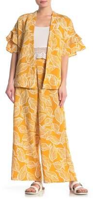 ECI Floral Print Wide Leg Pants