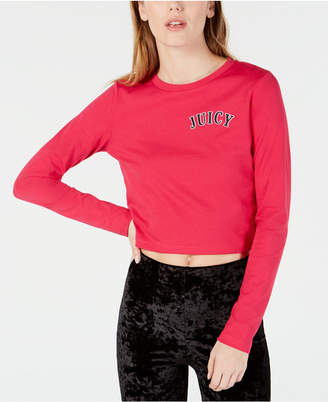 Juicy Couture Cotton Logo-Print Cropped T-Shirt