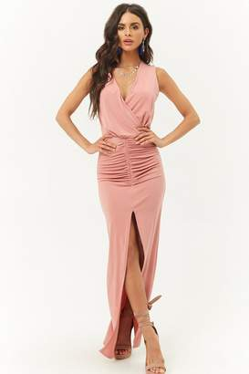 Forever 21 Ruched Surplice Maxi Dress