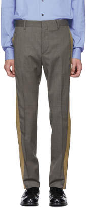 Prada Grey and Beige Houndstooth Trousers