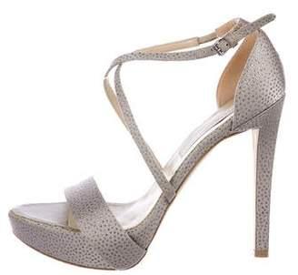 Stella McCartney Glitter Satin Platform Sandals