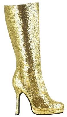 Ellie Women's Gold Glitter Boots