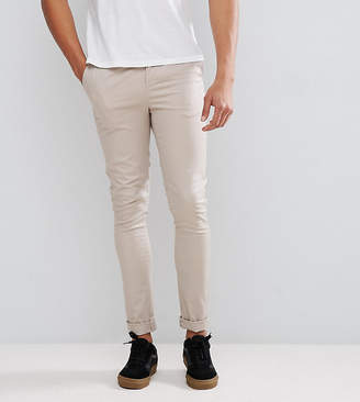 Asos Tall Super Skinny Chinos In Beige