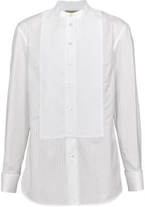 Burberry Slim Fit Panelled Bib Cotton Shirt